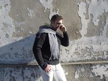 Pánská šála s kapucí, xxl