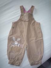 Kalhoty s lacly, béžové s králíčkem, vyteplené, ne, next,74