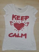 Bílé tričko s nápisem terranova vel.m, terranova,m