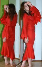 Karnevalové červené šaty čertice, čarodějnice...,