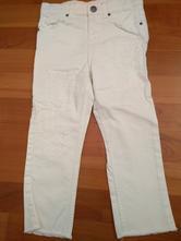 3_bile kalhoty s nasivkama hm vel 116, h&m,116