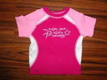 Luxusní plavkové tričko - svítivě růžové,