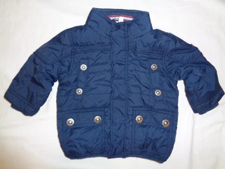 Luxusní zimní tmavomodrá teploučká zimní bunda, 74