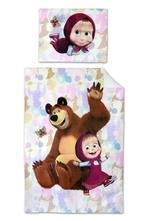 Dětské povlečení 140x200 máša a medvěd motýl, 140,200