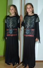 Karnevalový kostým šaty kostlivec i lucifer,