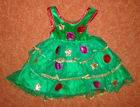 Kostým šaty vánoční víla, george, vel. 1-2 roky.,