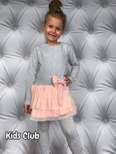 Šaty s dlouhým rukávem tylová sukně, 98 - 164