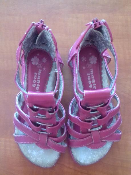 Sandále dívčí, c&a,28