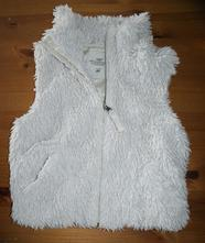 Luxusní vesta chlupatka, h&m,134