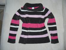 Pruhovaný sametový svetr, palomino,122