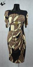 Elastické barevné šaty vel 42, 42