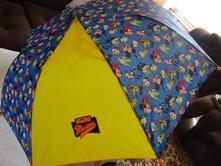 Pěkný skládací šikovný dětský deštník se šnůrkou,