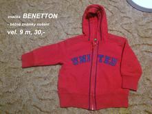 Mikina s kapucí, benetton,74
