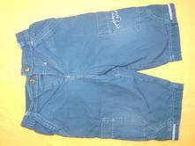 Modré (3/4) kalhoty, mothercare,80