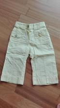 Světle žluté plátěné kalhoty vel. 12-18 m, early days,80