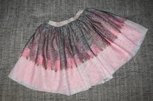 Tylová sukně s peříčky hm, velikost 122/128, h&m,122