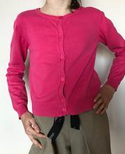 Růžový propínací dívčí bavlněný svetr kanz, 10 let, kanz,140