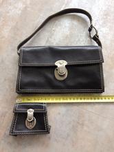 Černá kabelka psaníčko + mini peněženka zn.mango ,