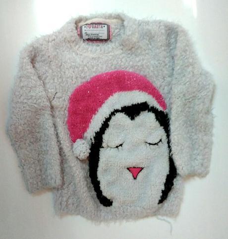 S101 - svetr s tučňákem, young dimension,116