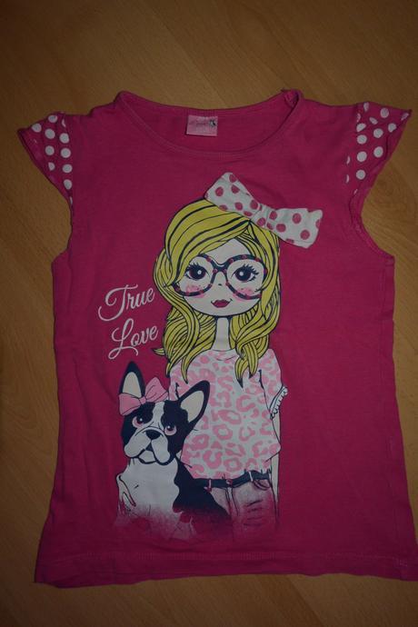 Růž.tričko s holčičkou 104, 104