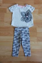 Květinový set legíny a tričko, f&f,80