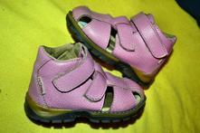 Kožené dívčí sandálky pegres, pegres,21