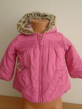 Zimní bunda s kytičkou vel.80/2780, marks & spencer,80