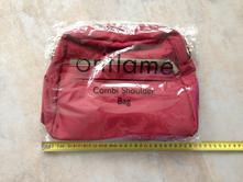Praktická combi shoulder bag červená taška kapsy ,