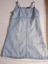Riflové šaty, h&m,104