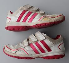 Bílé tenisky adidas, white.pink uk13,5/eur32, adidas,32