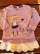 Tričko tunika s krajkou, dopodopo,86