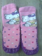 Ponožky s koženou podrážkou hello kitty, sanrio
