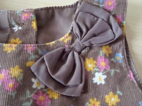 Šaty květované s mašlí, mothercare,68