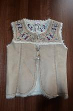 Zimní vyšívaná dívčí vesta 8-10 let, monsoon,134