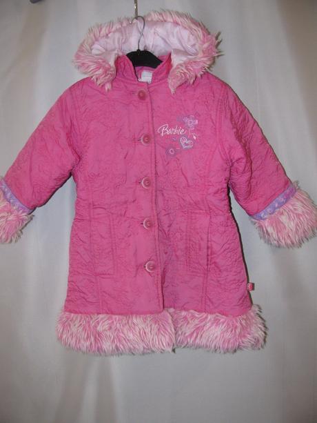 Prošívaný,zimní kabátek s kapucí, 104