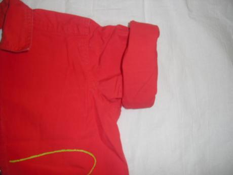 Košile s roll up rukávy, vertbaudet,68