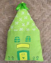 Voňavý látkový domeček - zelený,