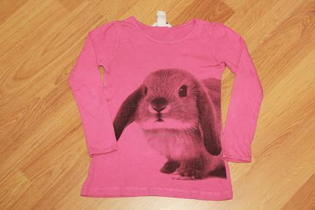 Tričko triko s králíčkem h&m vel. 98-104, h&m,98