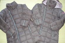 2 x zimní bunda, kabátek next vel.128-cena za obě, 128