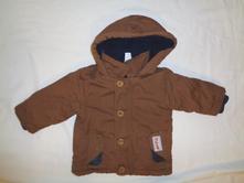 Teoloučký hnědý zimní kabátek, baby club,68