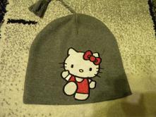 Zimní čepice s hello kitty zn.h & m vel.122/128, h&m,122