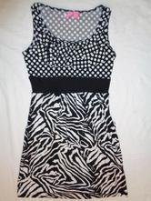 Překrásné černobílé šaty, 152 / 158