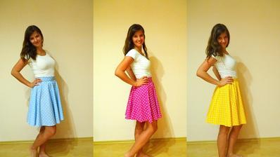 Mé první tři šicí pokyny v životě! Jsme tři kamarádky a každá máme jednu barvu.. a taky máme úžasný fotky s těmahle holkama!