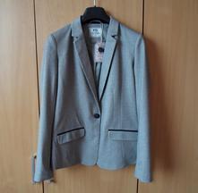 Elegantní dámské šedé sako sáčko, kenvelo,m