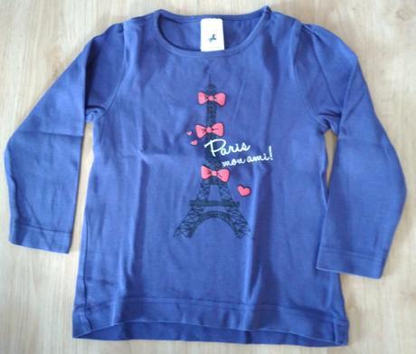 E186. tmavě modré triko paříž, c&a,110