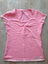 Růžové bavlna tričko na kojení vel.s, calvin klein,