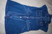 Riflové jeansové šaty šatičky, george,98