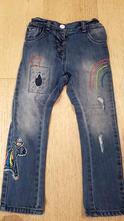 Džíny jeansy s jednorožcem, next,98