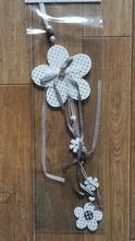 Závěsná dekorace girlanda květy - dřevěné,