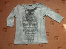 Šedo - bílé tričko, 46